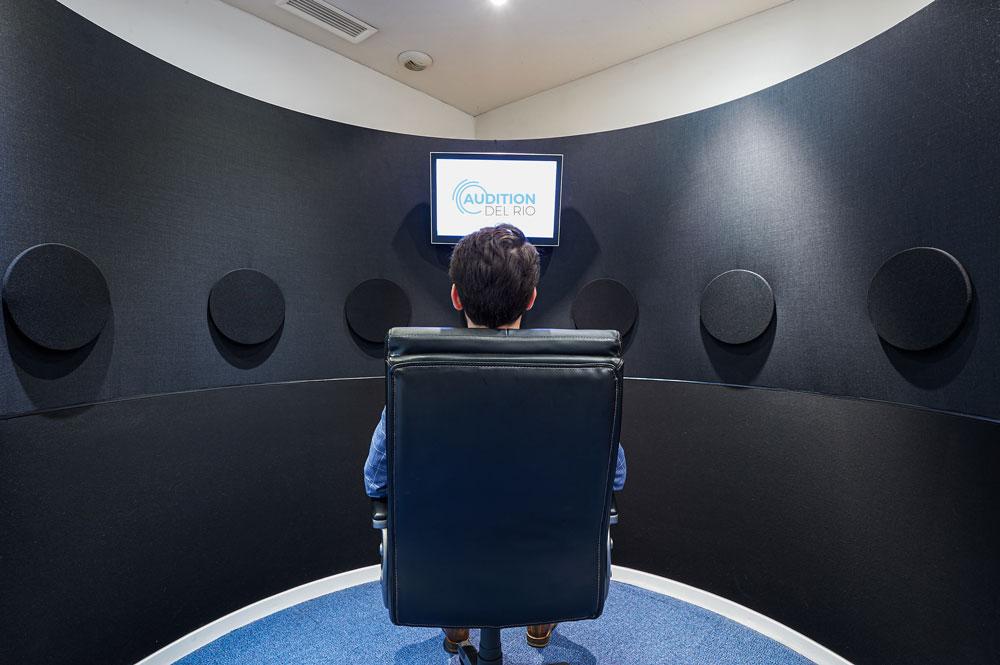 Simulateur d'ambiance sonore, AUDITION DEL RIO audioprothésistes à Bordeaux